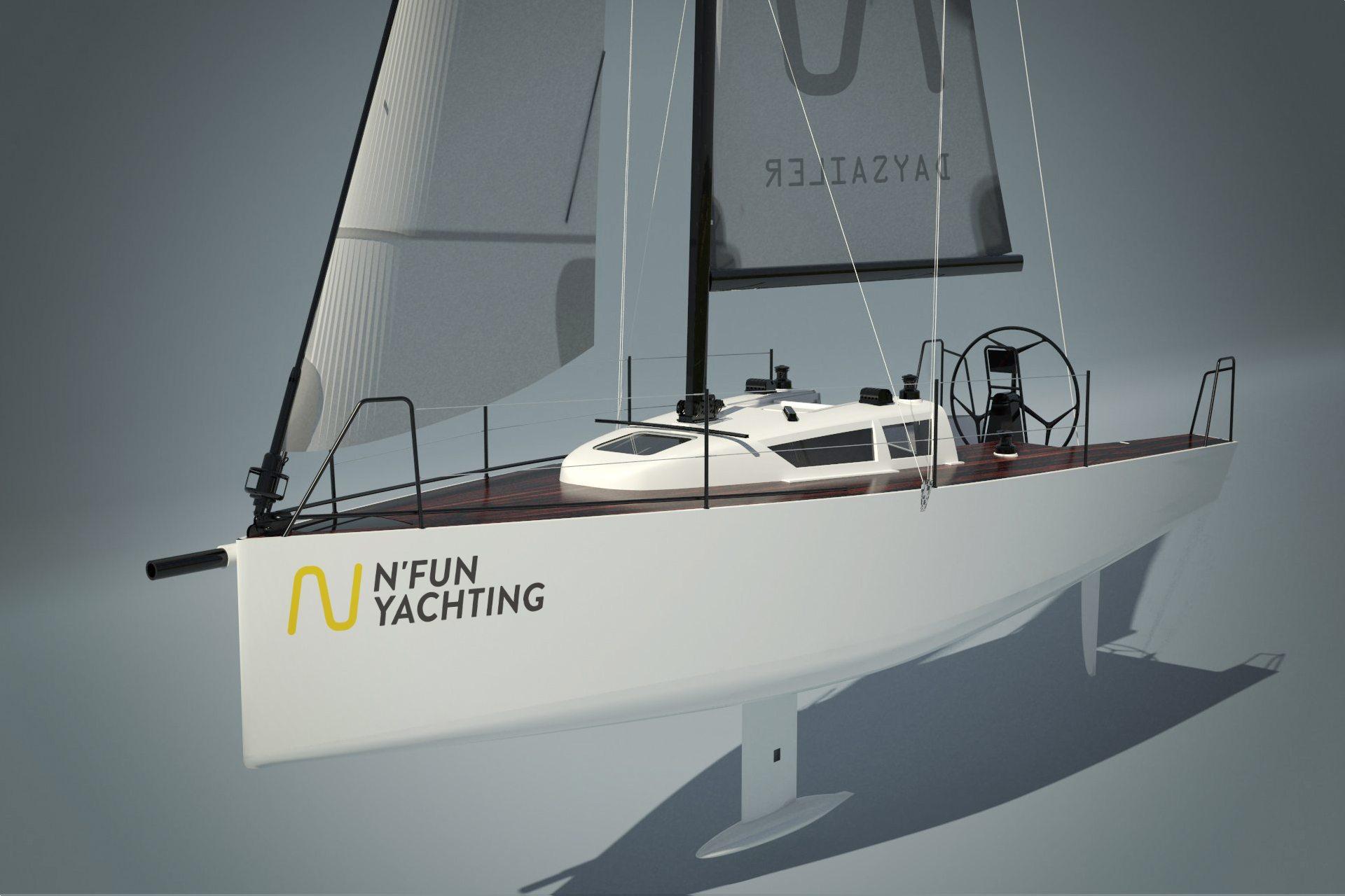 Launching of N Fun30 daysailer yacht